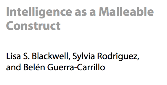 Intelligence as a Malleable Construct